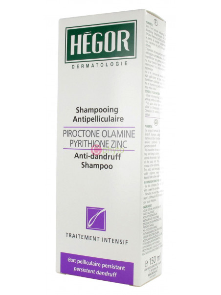 Hégor - Shampooing Antipelliculaire Piroctone Olamine / Pyrithione Zinc - 150 ml