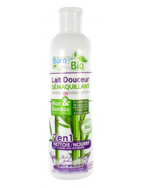 Born To Bio - Lait Douceur Démaquillant Aloe & Bambou - 250 ml
